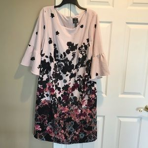 Adrianna Papell Woman Plus floral ruffle dress 22W